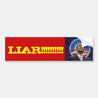 obama1, LIAR!!!!!!!!!! Bumper Sticker