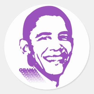 Obama 001 round sticker