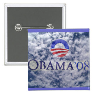 OBAMA '08_ Button_by Elenne 2 Inch Square Button