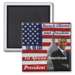 Obama,1st African American President_Magnet Magnets