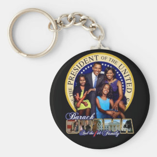 OBAMA-1ST FAMILY-Keychain Keychain