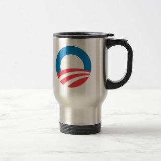 Obama 2008 15 oz stainless steel travel mug