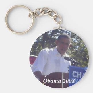 Obama 2008 basic round button keychain