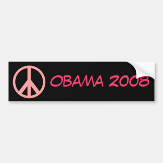 Obama 2008 Bumper Sticker Pink and Black