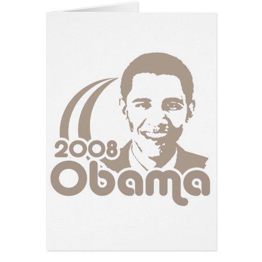 Obama 2008 card