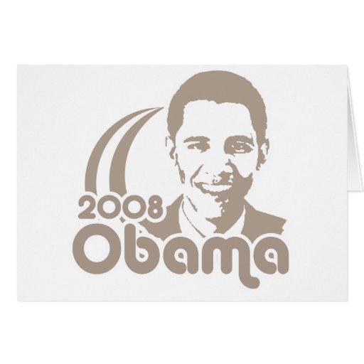 Obama 2008 greeting card