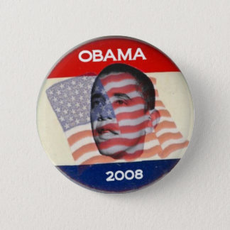 Obama 2008 Flag 2 Inch Round Button