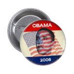 Obama 2008 Flag 2 Inch Round Button