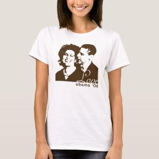 Obama 2008 - Love Brown Yellow T-Shirt