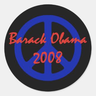 Obama 2008 Peace Symbol Stickers