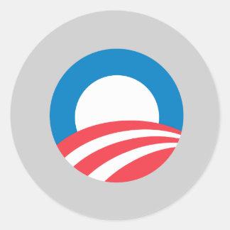 Obama 2008 round stickers
