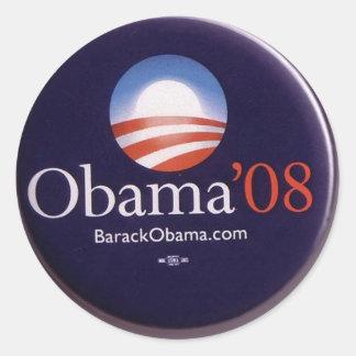 Obama 2008 round sticker