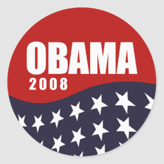 Obama 2008 T-shirt Round Sticker