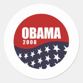 Obama 2008 T-shirt Round Stickers