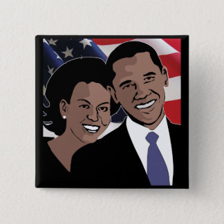 Obama 2012 2 inch square button