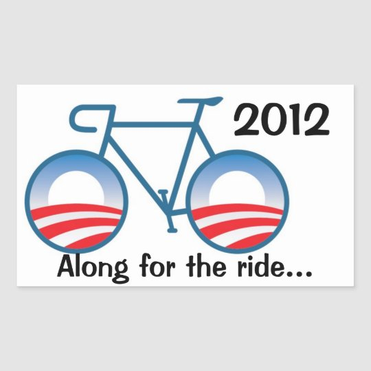 Obama 2012 Bike - Along for the ride... Sticker