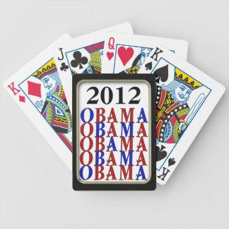 Obama 2012  Black Frame Bicycle® Play Poker Deck