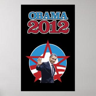 Obama 2012 Black Poster