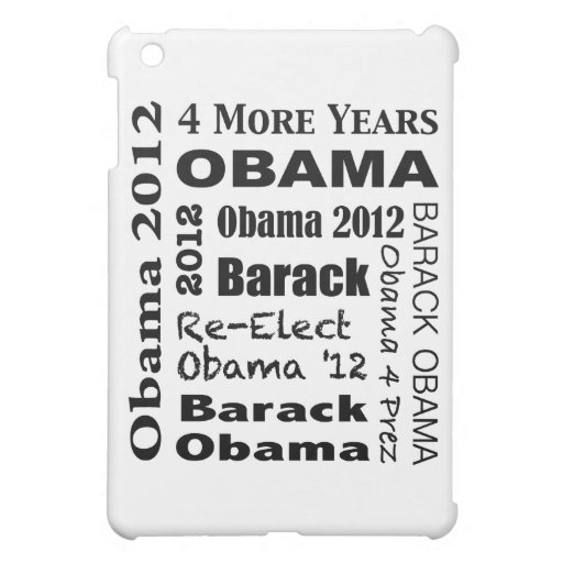 OBAMA 2012 Block Design iPad Mini Covers
