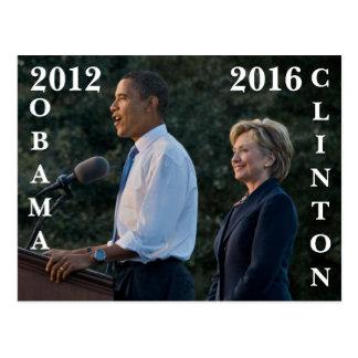 Obama 2012 & Clinton 2016 Postcard