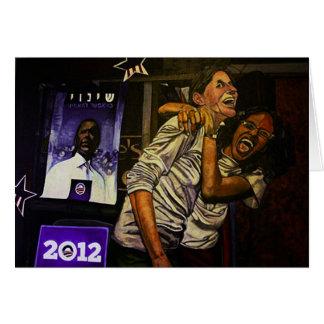 Obama 2012! greeting card