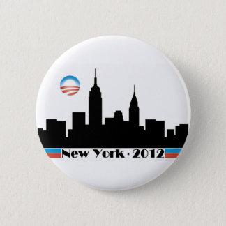 Obama 2012 New York City Skyline 2 Inch Round Button