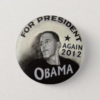 Obama 2012 Noir Button