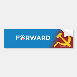 Obama 2012 (parody) Forward into Socialism Bumper Sticker