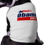 Obama 2012 pet t shirt