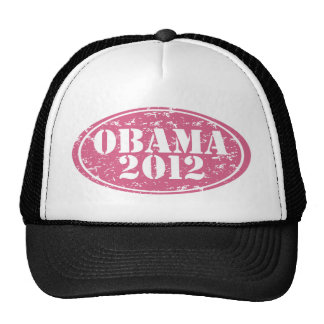 obama 2012 pink faded trucker hat