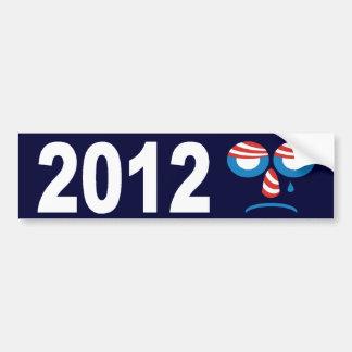 Obama 2012 Sad Face Bumper Sticker Car Bumper Sticker