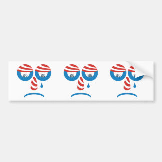 Obama 2012 Sad Face Bumper Stickers
