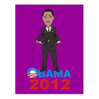 OBAMA 2012 T SHIRT POSTCARD