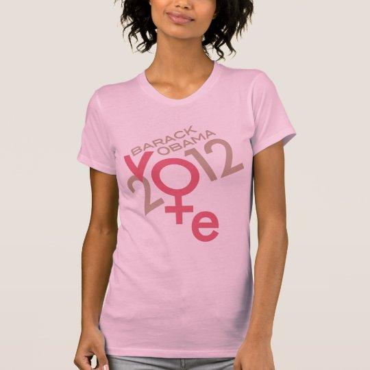 Obama 2012 Vote Gender Symbol T-Shirt