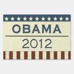Obama 2012 yard signs