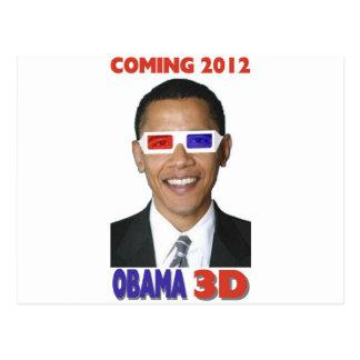 Obama 3D Carte Postale
