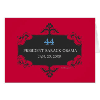 Obama 44 Greeting Card (Red)