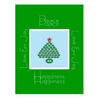 Obama 44 Peace & Love Christmas Postcard