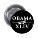 Obama 44 pinback buttons
