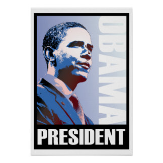Obama - 44th President on a GIANT Poster