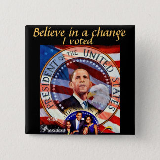 Obama,45th President of The United States_ 2 Inch Square Button