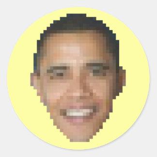 Obama (8-bit) classic round sticker