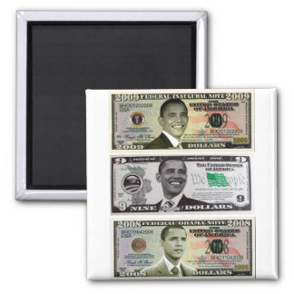 obama 9 Dollar Bill Magnet
