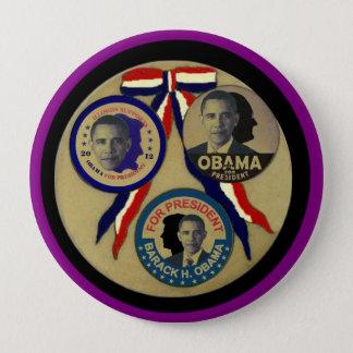 Obama, Abe, FDR & JFK 4 Inch Round Button
