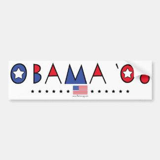 Obama abstrait 2008 autocollant de voiture