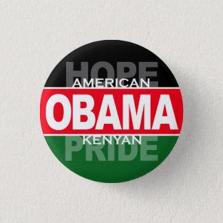 Obama -- American Hope, Kenyan Pride 1 Inch Round Button