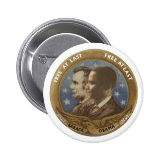 Obama and Lincoln 2 Inch Round Button