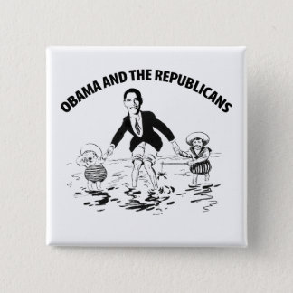 Obama and the Republicans 2 Inch Square Button