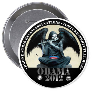 Obama: Angel of Death 4 Inch Round Button