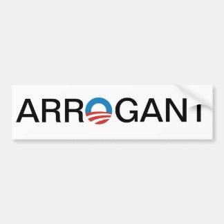 Obama Arrogant Bumper Sticker